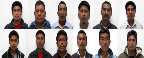 Detenidos por linchamiento en San Juan Cancúc. Foto: Procuraduría de Justicia de Chiapas