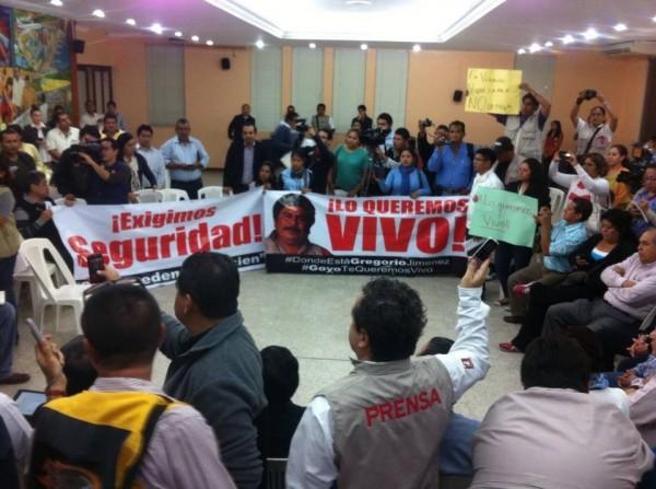 Manifestación de periodistas en Veracruz