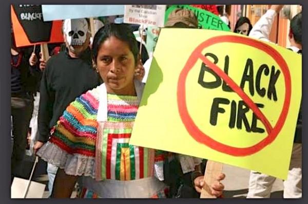 Protesta contra minera de Canadá. Foto: Cortesía