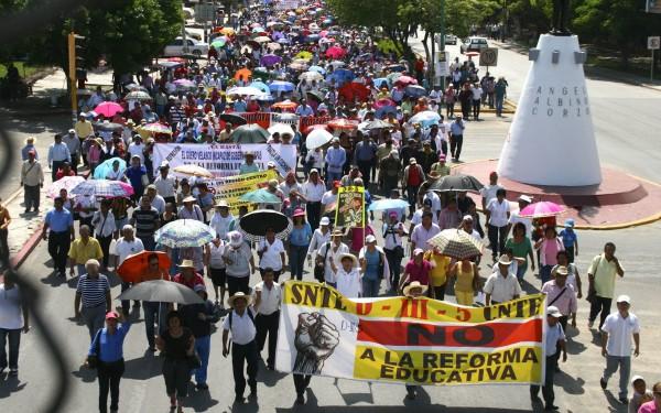 Se demandó penalmente a maestros y ciudadanos que protestaron contra la Reforma Educativa. Foto: Chiapas PARALELO