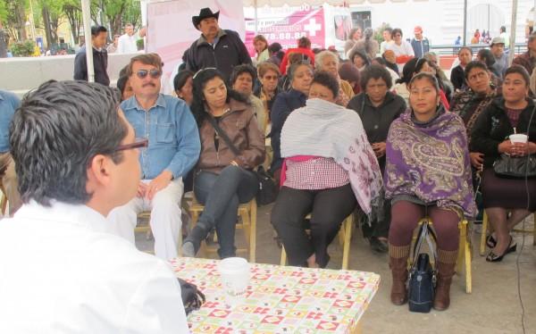 Campaña gratuita a personas con problemas de riñón. Foto: Emiliano Hernández