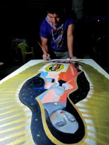 Enrique Díaz, el artista plástico chiapaneco. Foto: Isaín Mandujano