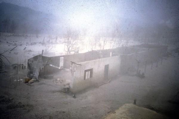 Localidad El Naranjo municipio de Francisco León devastado por la erupción del Volcán Chichonal en 1982. Foto: Servando de la Cruz Reyna UNAM.