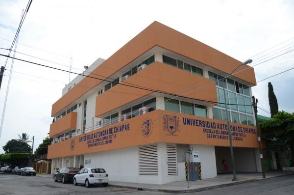 Nuevo edificio de lenguas en Tuxtla. Foto: UNACH