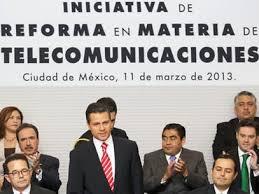 Peña Nieto durante la presentación de la Reforma en Telecomunicaciones. Foto: Archivo