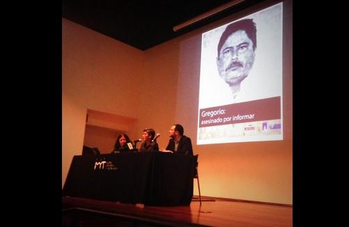 Presentación del informe sobre el asesinato del periodista Gregorio Jiménez de la Cruz. Foto: Cortesía