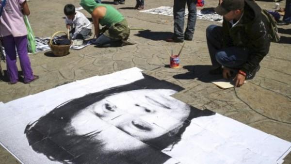 Manifestación a favor de Yakiri en San Cristóbal, Chiapas. Foto: Cortesía