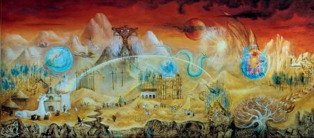 Pintura surrealista de Leonora Carrington.