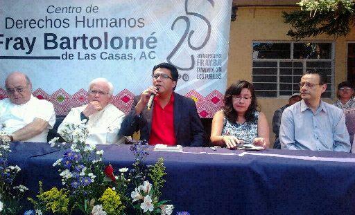 En la imagen, Victor Hugo López, director ejecutivo del Centro de Derechos Humanos Fray Bartolomé de Las Casas. Foto: Moysés Zúñiga