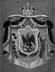 Emblema del imperio mexicano, cara del país cuando era monarquía