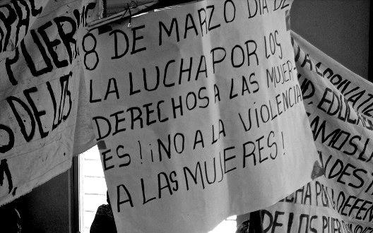 Mujeres campesinas se manifestaron el 8 de marzo. Foto: Cortesía