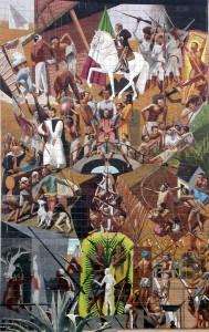 """Su obra """"Visión histórica de Chiapas"""", que hizo junto al pntor chiapaneco ya fallecido, César Corzo."""