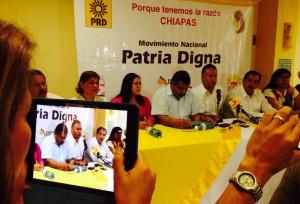 Llama Sotelo poner fin al control de los Chuchos en el PRD. Foto: Chiapas PARALELO