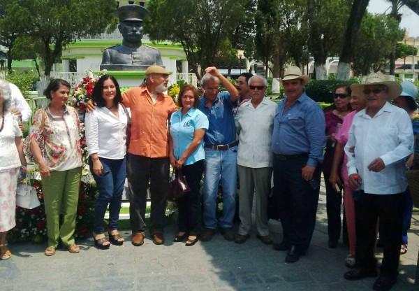 En Villaflores, rinden honores al general mapachista Tiburcio Fernández. Foto: Chiapas PARALELO