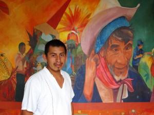 Saul Kak es un joven artista plástico y audiovisual de la etnia zoque.