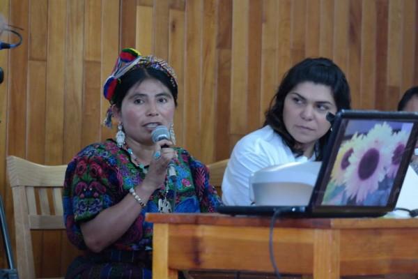 Rosa Liberta Xiap Riscajché, en el acto protocolario del  pasado 07 de abril. Foto: Montserrat Balcorta.