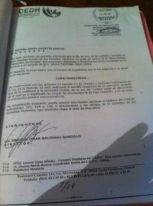 La primera queja ante la CEDH la presentó el propio Miguel Ángel el 18 de abril del 2011.