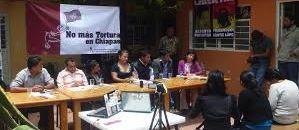 Familiares de personas torturadas ofreciendo una conferencia de prensa. Foto: Archivo.