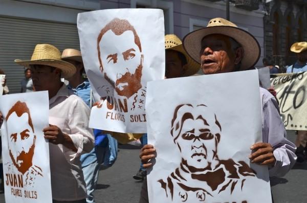 Puebla, protestas por detención de activistas contra el gasoducto. Foto: LadoB