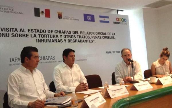 Llegó a Tapachula el martes y estará este miercoles en Tuxtla y San Cristóbal de Las Casas.