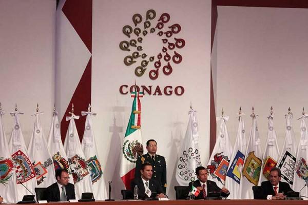 Reunión de la Conago en febrero de 2014 en Puebla. Foto: e-consulta.com