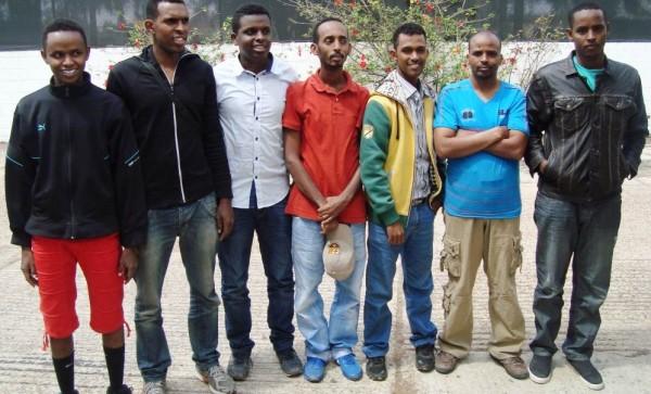 Viajan desde Somalia a México, y el INM los detiene. Foto: Fredy Martín Pérez