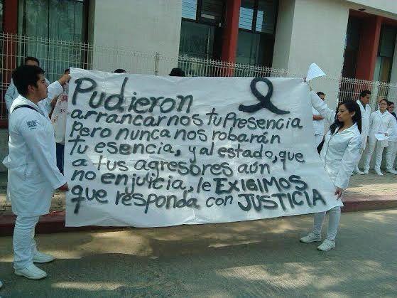 Marcha por muerte de Doctor Bernardo. Foto Cortesía