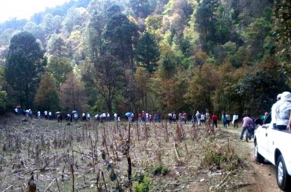 Marcha pacífica par reafirmar la apropiación de un espacio público como la Reserva Gertrudi Duby