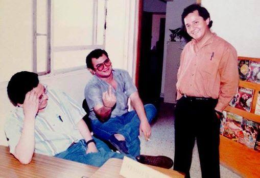 José Juan Balcázar, José López Arévalo y Sarelly Martínez, una foto, según Isaín, de 1997.