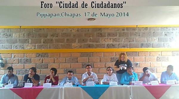 Foro: Ciudad de Ciudadanos en Pijijiapan.