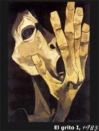 Autoretrato, del pinto Oswaldo Guayasamín