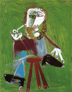 Hombre sentado con pipa. Pablo Picasso