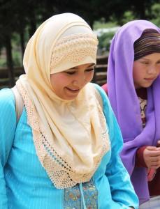 Mujeres tsotsiles practican la religión musulmana. Foto: Elizabeth Ruiz