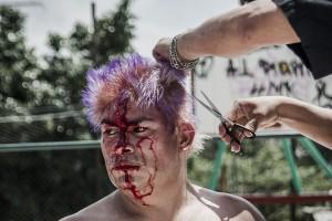 New Fire pierde la cabellera, en combate con el Guerrero Zulú. Foto: Ariel Silva