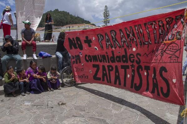 No más paramilitares en comunidades zapatistas. Foto: Elizabeth Ruiz