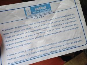 Alerta consulado a migrantes por agresiones de Zetas y Maras.