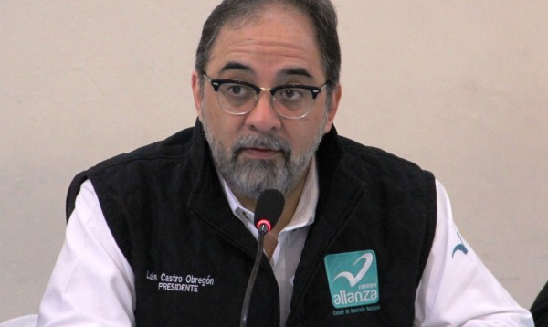 Luis Castro Obregón, presidente nacional de Nueva Alianza.