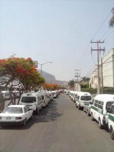 Transporte público en paro en Tuxtla Gutiérrez, Chiapas. Foto: Archivo/Chiapas PARALELO