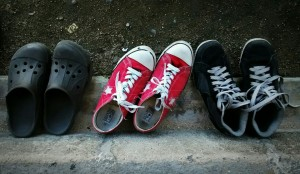 Migrants shoes. Foto: Rubén Figueroa