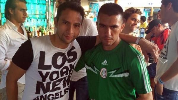 Jorge Alberto López Amores (izquierda), hijo del procurador de Chiapas. Tomada de su cuenta de Twittter @jorge_amores