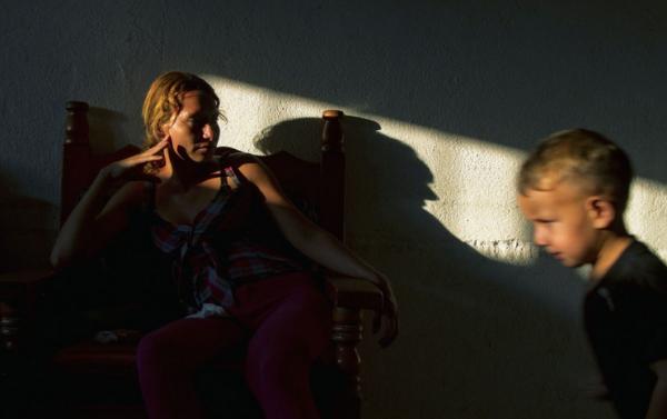 Mujer migrante en Chiapas