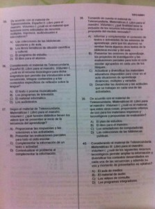 El docente entregó a los representantes de la Sep el archivo de la evaluación, que había sido distribuida con antelación.