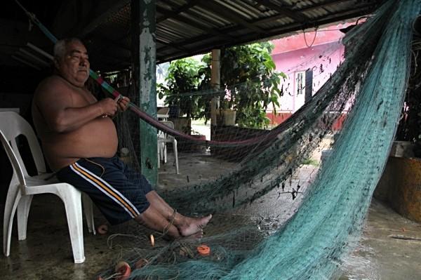 La Marina decretó el cierre a la navegación. Pescadores permanecen en tierra. Foto: Elizabeth Ruiz