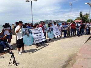 Manifestacion de periodistas en Acapulco