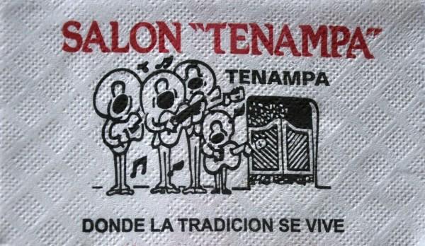 © El famosísimo Tenampa. Servilleta de papel. Ciudad de México (2011)
