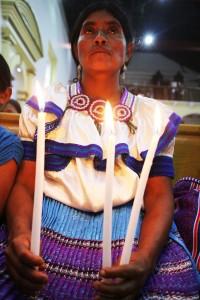 Mujeres participan en la peregrinación. Foto: Elizabeth Ruiz