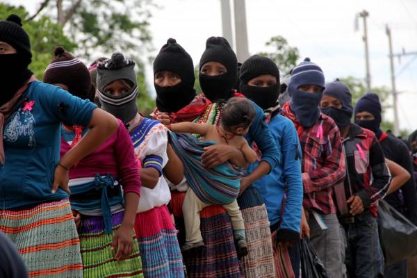 Mujeres zapatistas en La Realidad. Foto: Elizabeth Ruiz
