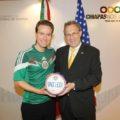 Reunión del gobernador de Chiapas con el Embajador de EU. Foto: Icoso