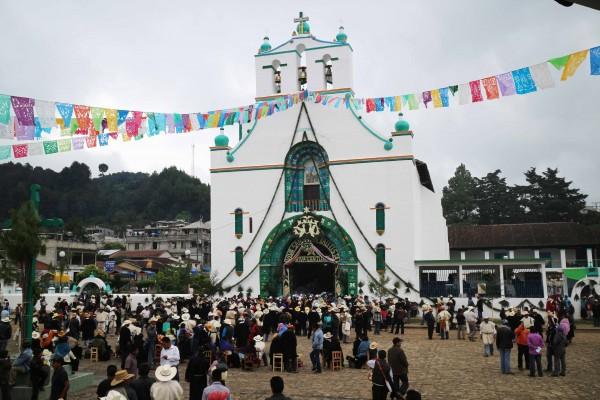 Día de San Juan en Chamula. Foto: Elizabeth Ruiz.
