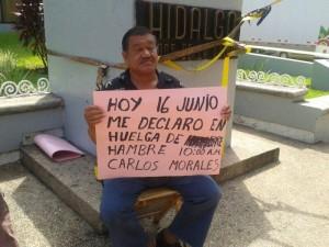 Comerciante de Tapachula se declara en huelga. Foto: Cesar Rodríguez